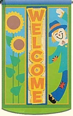 Harvest Welcome Decorative Flag