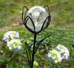 Floral Solar Globe