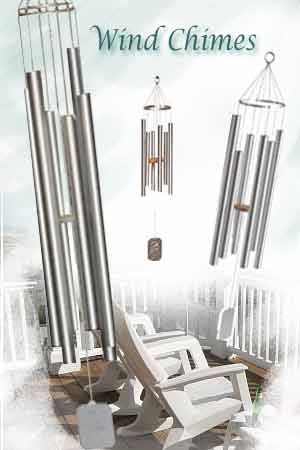 Wind chimes small to large, by Grace Notes Windchimes