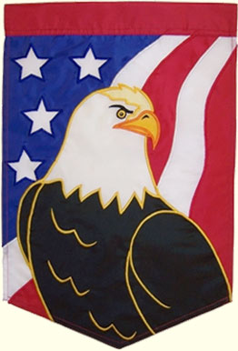 Eagle and Flag Banner