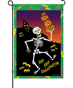Hip Hop Halloween Garden Flag