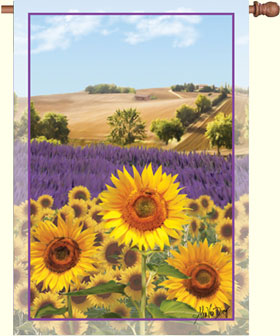 Sunflowers From Provence House Flag