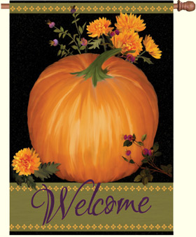 Bountiful Harvest Welcome House Flag