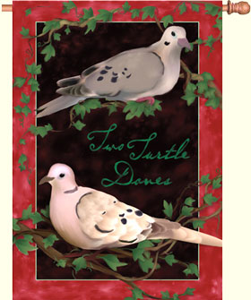 Two Turtle Doves House Flag
