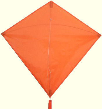 Orange Diamond Kite