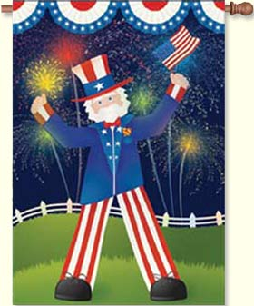 Uncle Sam Decorative House Flag