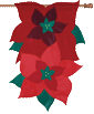 Pretty Poinsettias Holiday Flag
