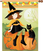 Heartwarming Witch Halloween Flag