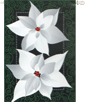 Silver Poinsettias House Flag